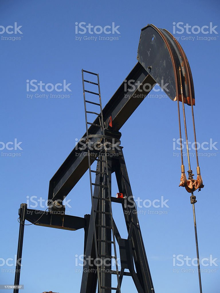 Oil Pumpjack - Black royalty-free stock photo