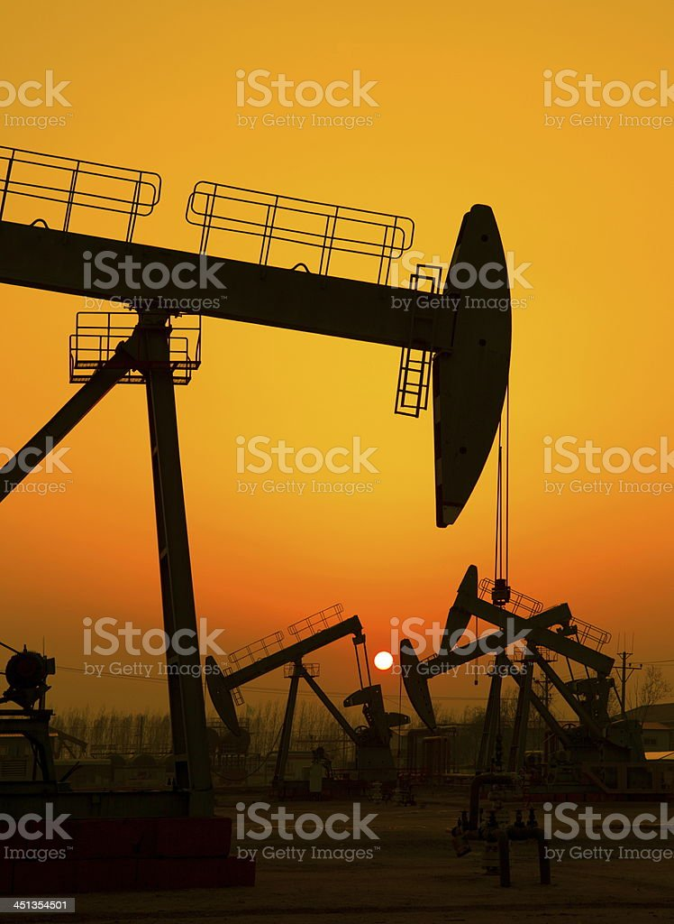 Oil pumps royalty-free stock photo