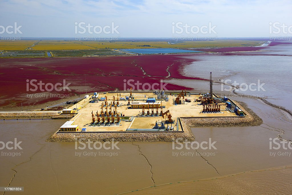 Oil pumps.Oil industry equipment. royalty-free stock photo