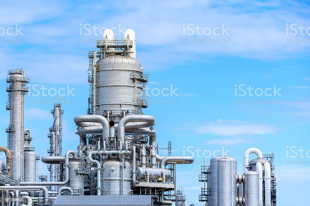 Oil Refenery royalty-free stock photo