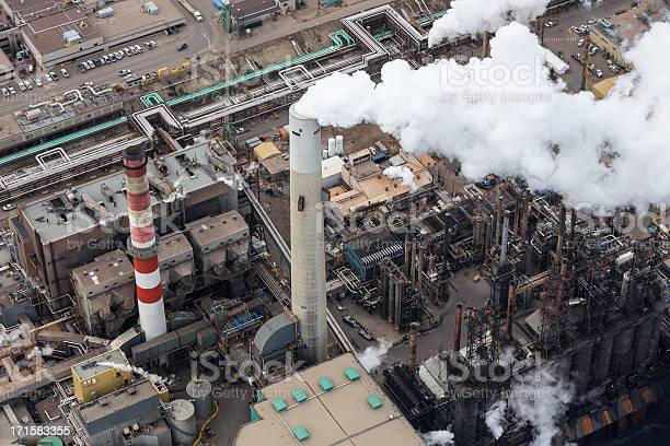 Oil Refinery Aerial Photo Stock Photo - Download Image Now