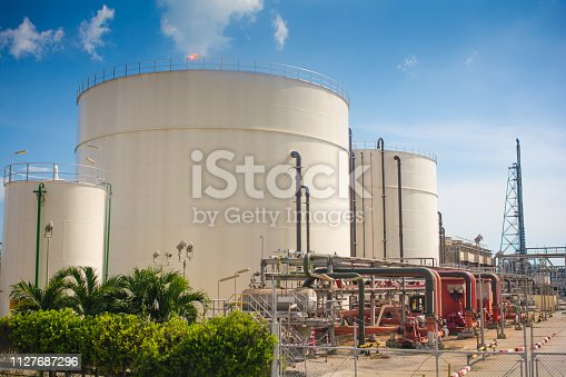 Oil refinery and gas industry in Petrochemical plant