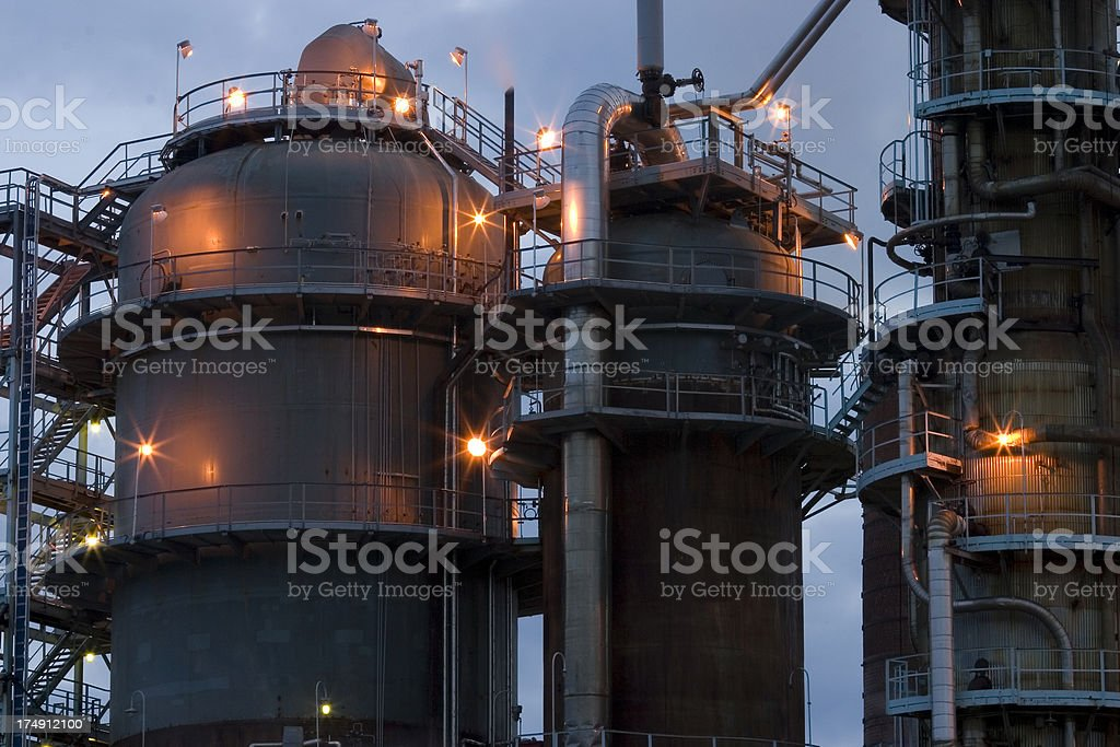 Oil Refinery Close-Up royalty-free stock photo