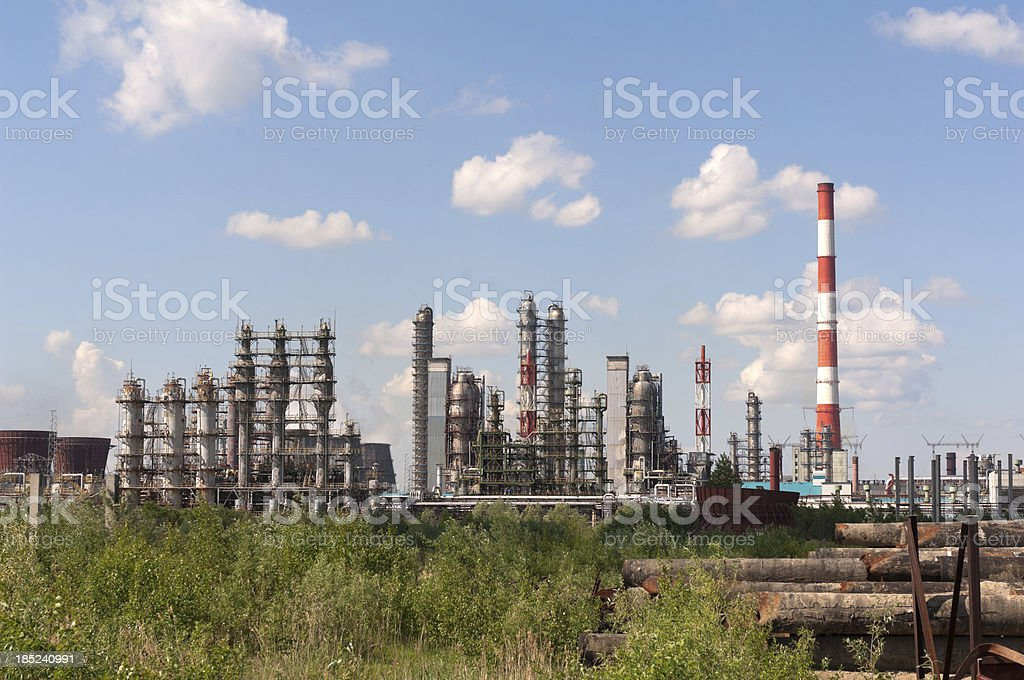 Oil refinery complex royalty-free stock photo