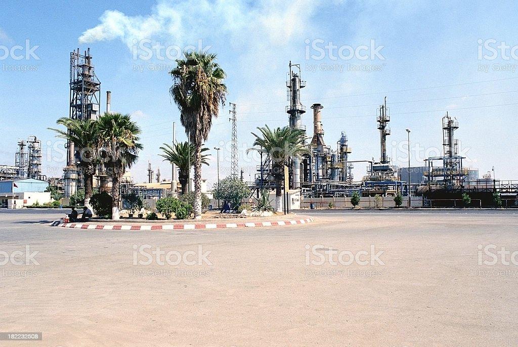 Oil refinery in morocco stock photo