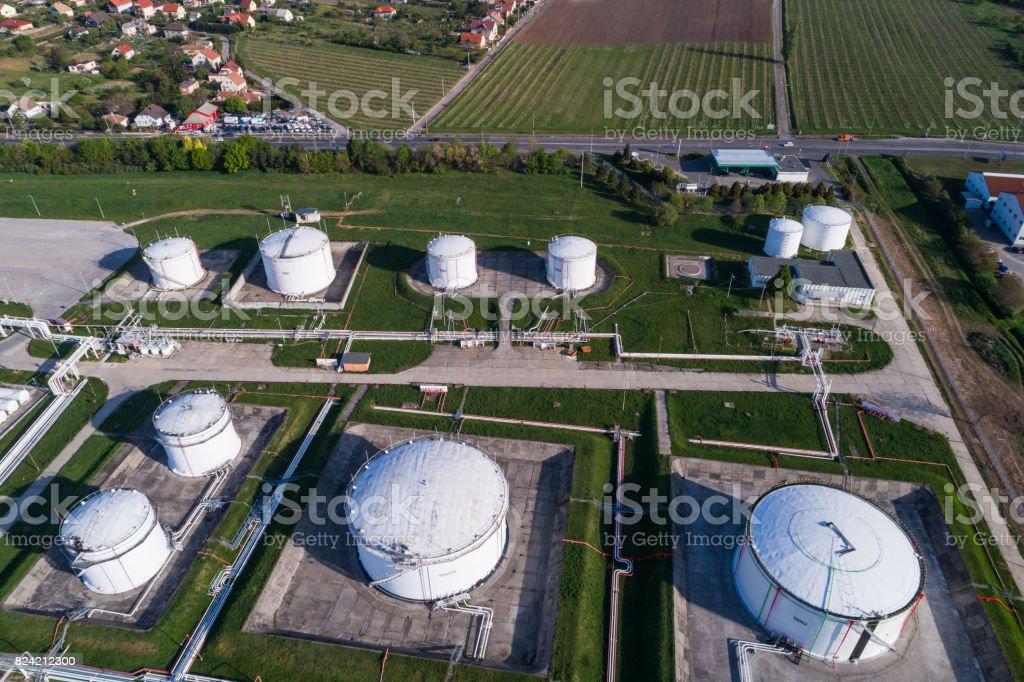 Öl-Raffinerie-Industriegebiet – Foto