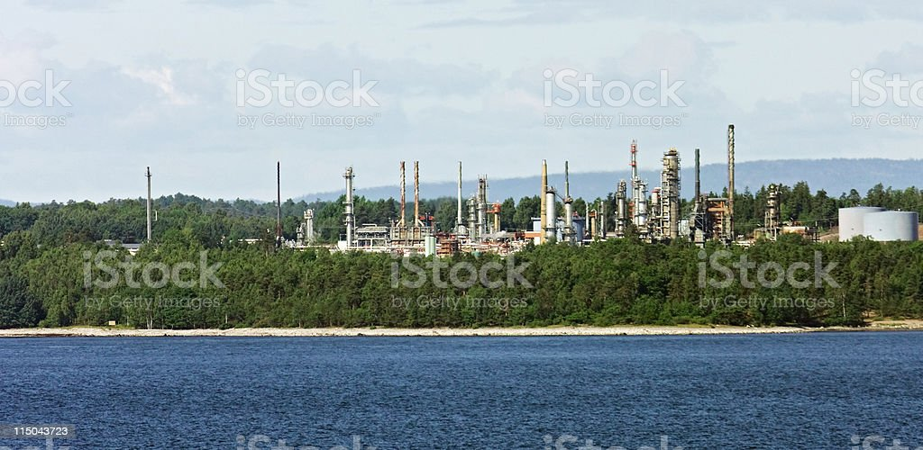 Oil Refinery, Norway royalty-free stock photo