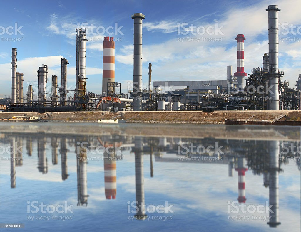 Oil refinery - Petrochemical plant stock photo