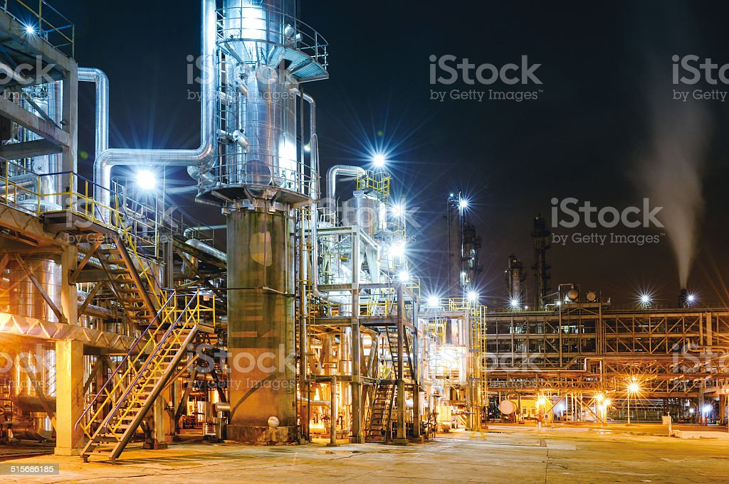 Oil Refinery & Petrochemical Plant stock photo
