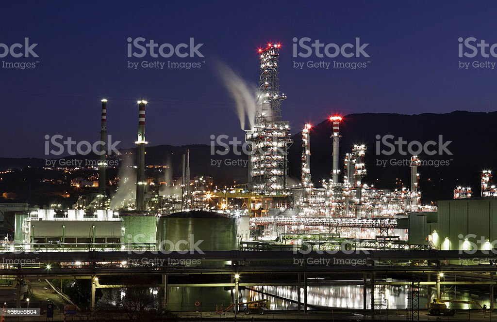 Oil refinery (Biscay,Spain) royalty-free stock photo