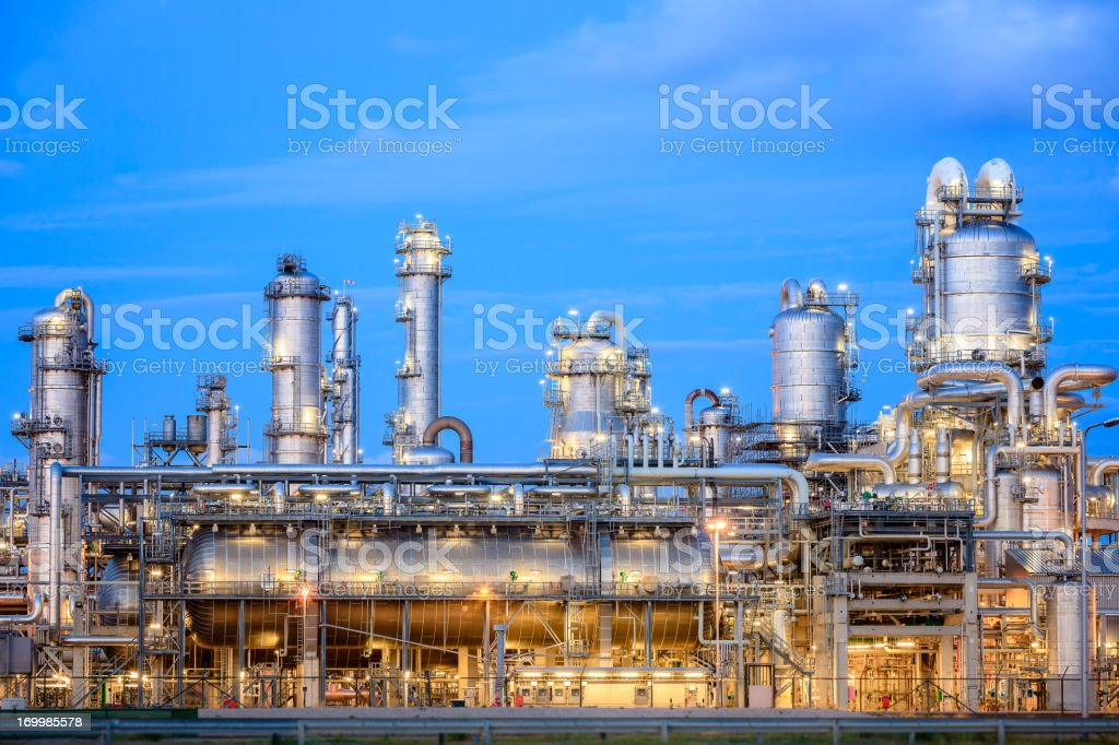 Oil Refinery royalty-free stock photo