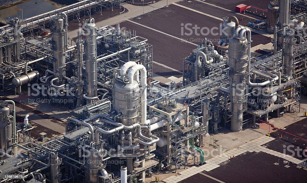 Ölraffinerie - Lizenzfrei Energieindustrie Stock-Foto