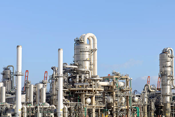 Raffineria di petrolio - foto stock