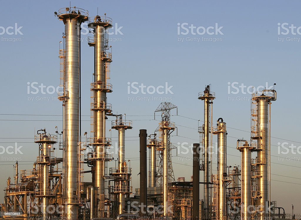 Oil Refinery #1 royalty-free stock photo