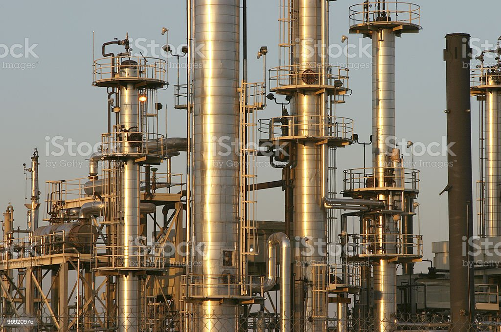 Oil Refinery #4 royalty-free stock photo