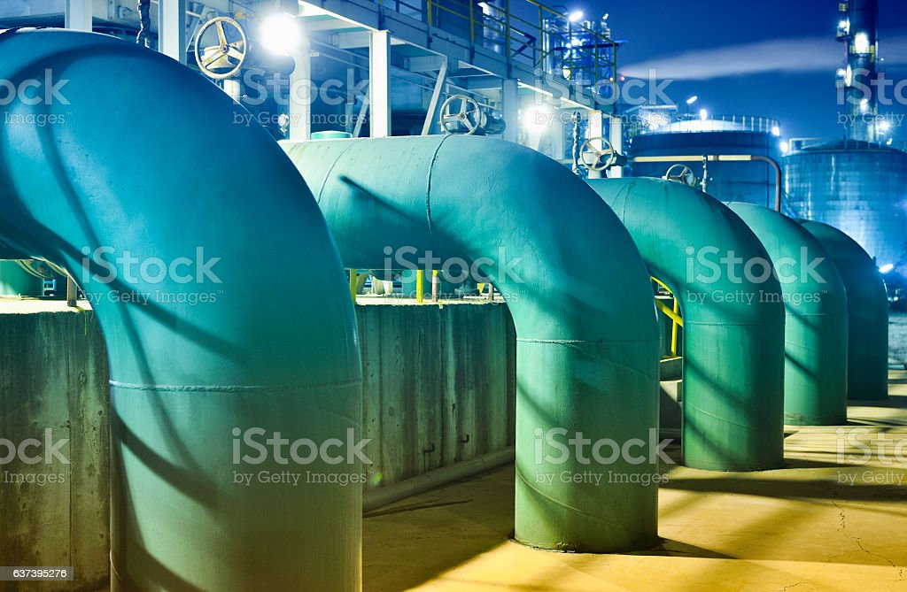 Oil Refinery Pipeline stock photo