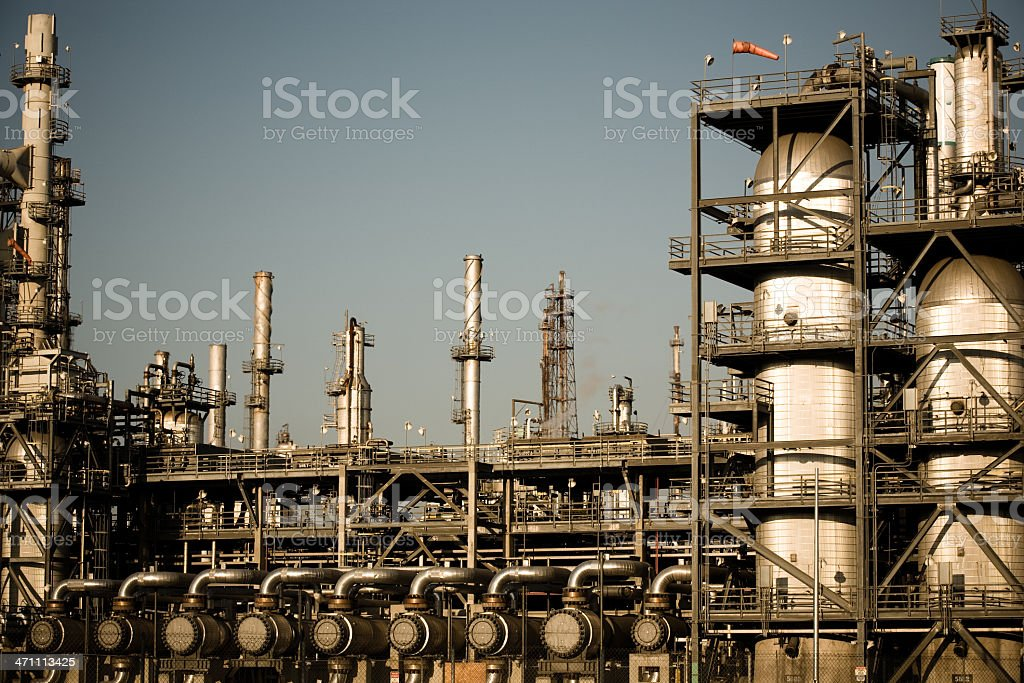 Oil Refinery Pipes royalty-free stock photo
