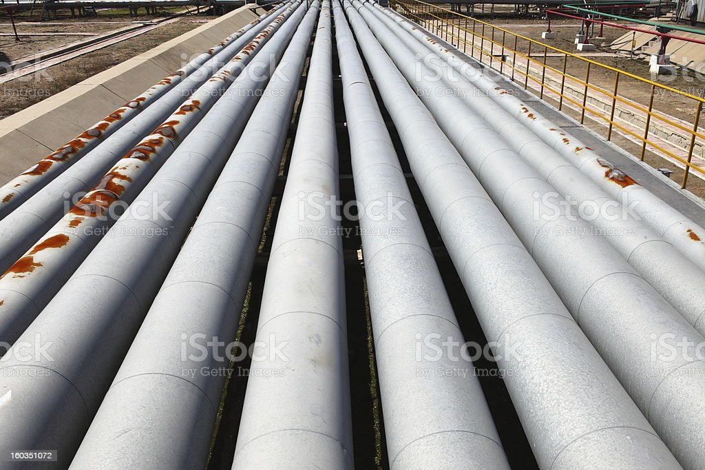 Oil Refinery Piping system royalty-free stock photo