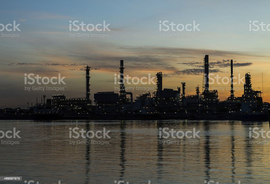 Oil Refinery Plant royalty-free stock photo