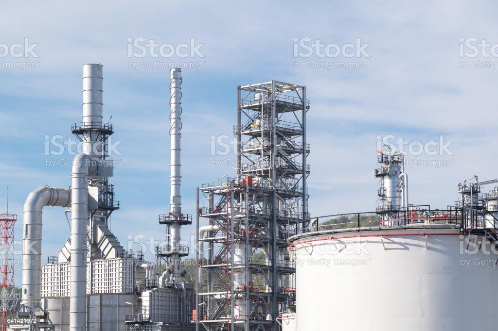 Oil refinery plant foto