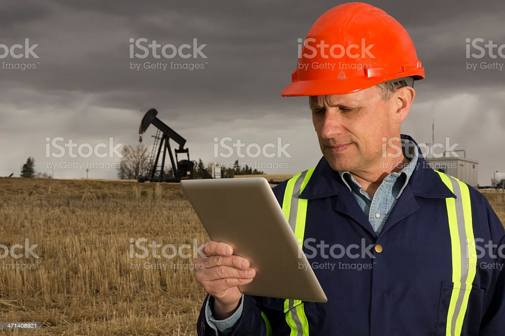 Oil Review royalty-free stock photo