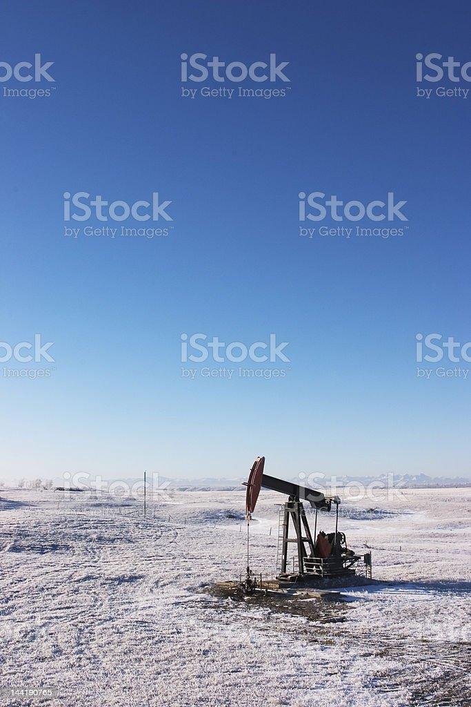 Oil Rig, Alberta Winter royalty-free stock photo