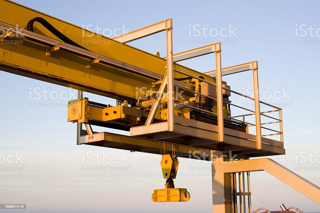 oil rig crane equipment royalty-free stock photo