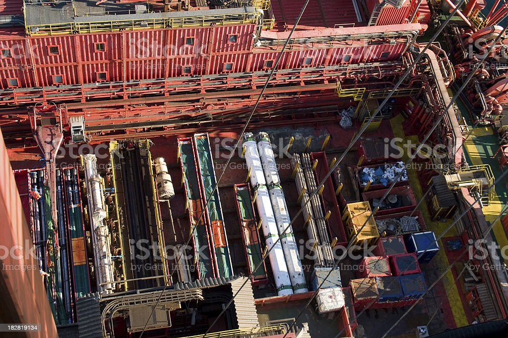 oil rig deck view royalty-free stock photo