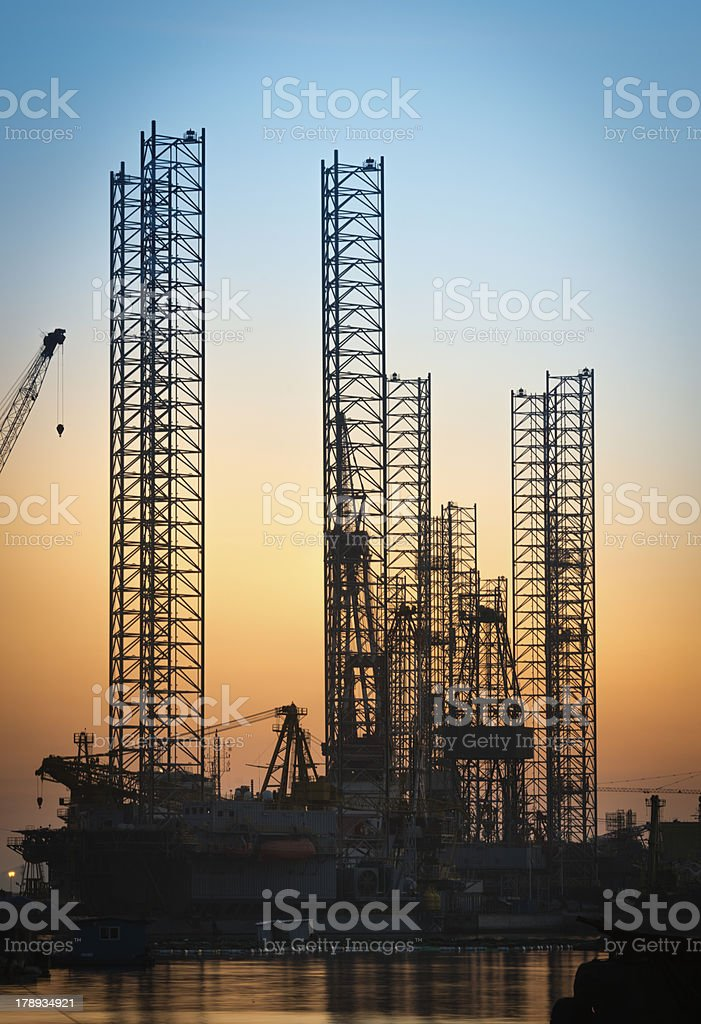 Oil Rig Drilling derrick royalty-free stock photo