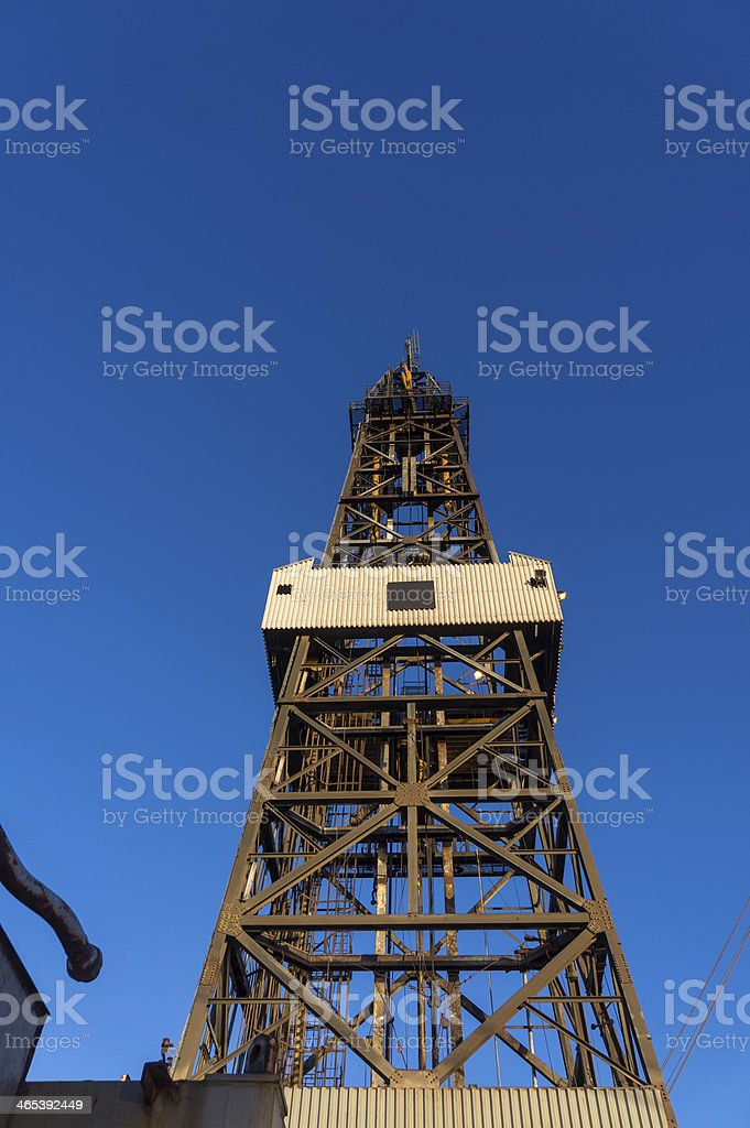 oil rig drilling derrick tower royalty-free stock photo
