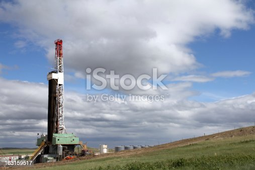 Rig used for drilling for oil in the Bakken shale play of North Dakota