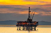 Oil rig in California