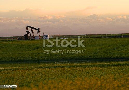 A pumpjack on the prairie