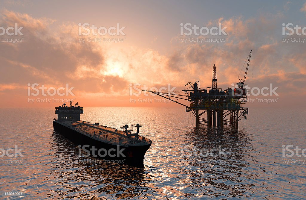 Oil Rig stock photo