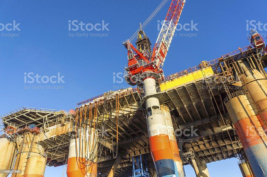 oil rig platform at sea royalty-free stock photo