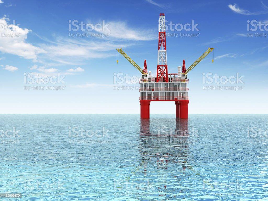 Oil rig platform royalty-free stock photo