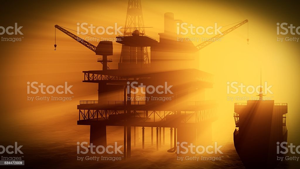 Oil rig-Plattform – Foto