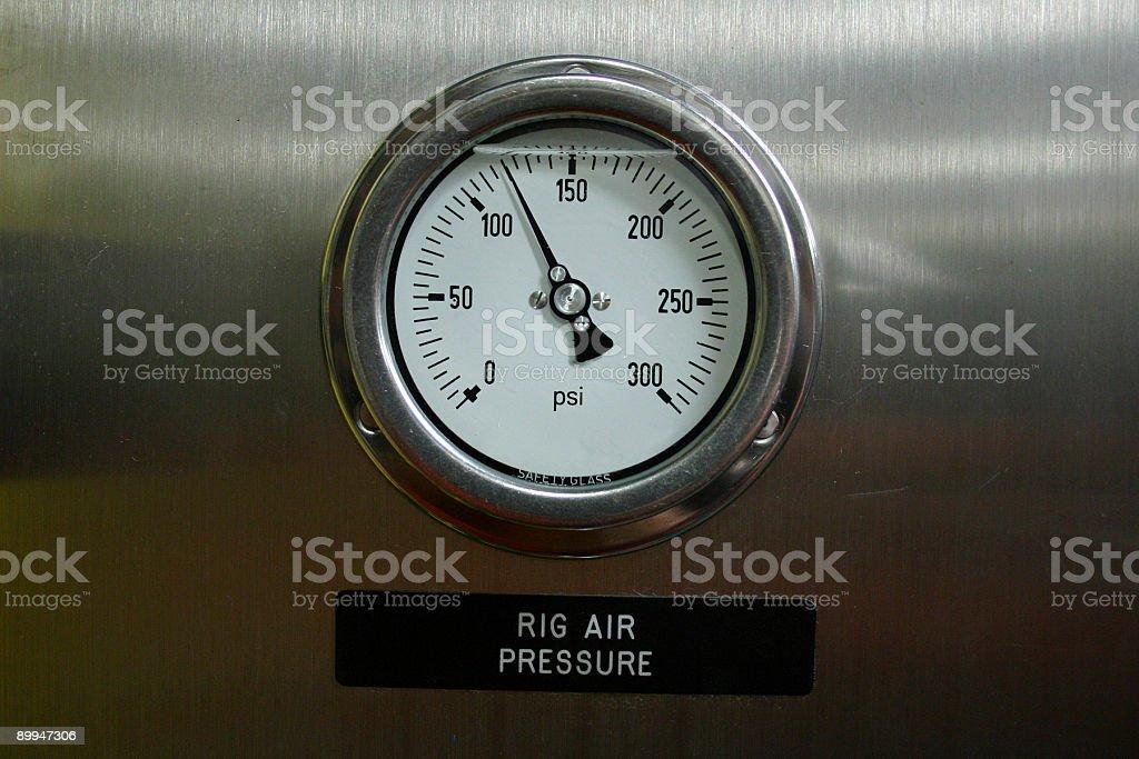 oil rig platform pressure gauge royalty-free stock photo