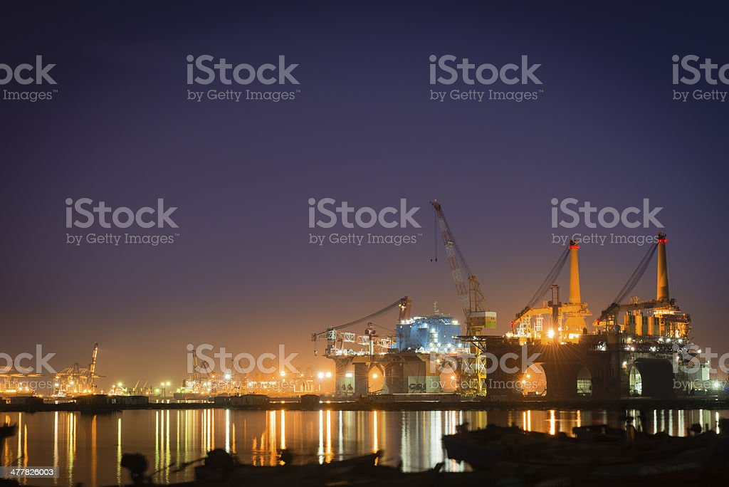 Oil Rig Production Platform stock photo