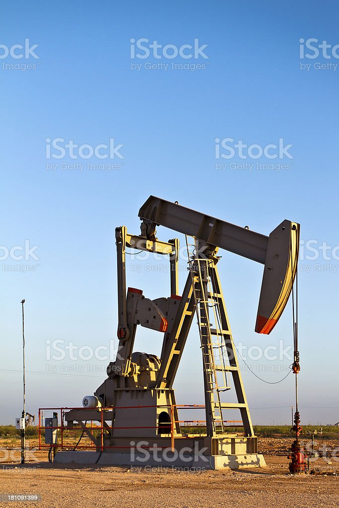Oil Rig Pump Jack royalty-free stock photo