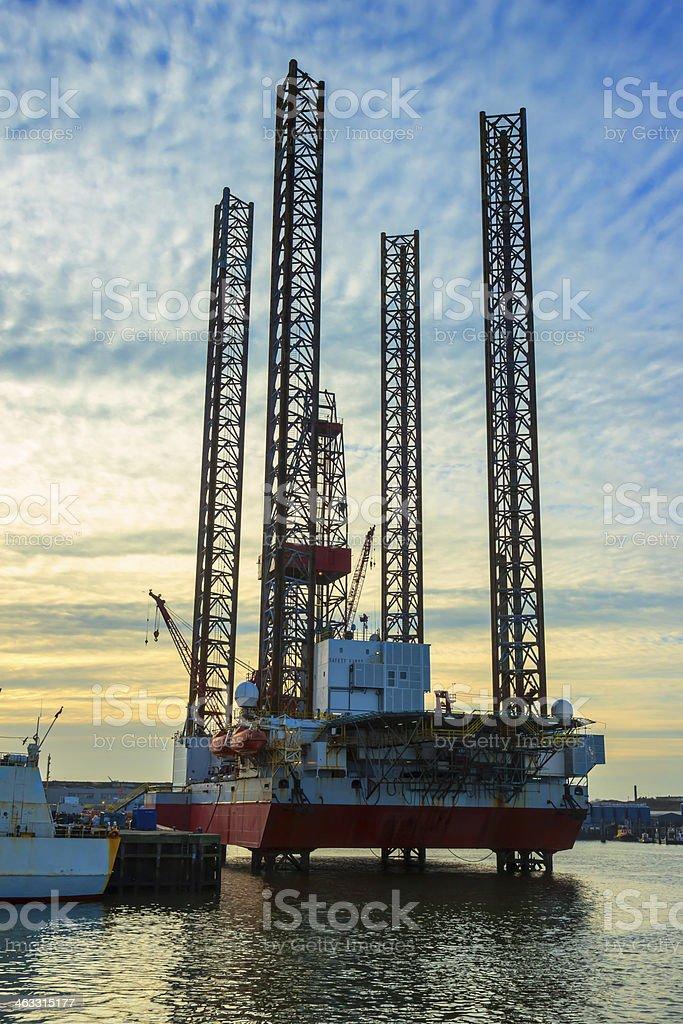 Oil Rig Repair royalty-free stock photo