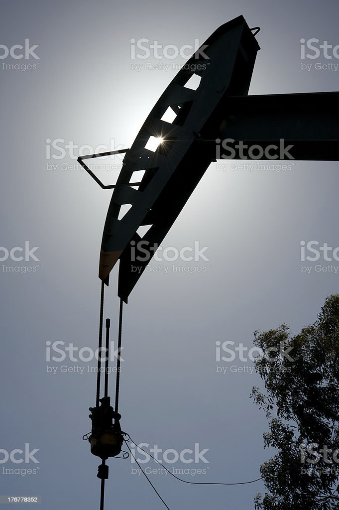 Oil rig silhouette royalty-free stock photo