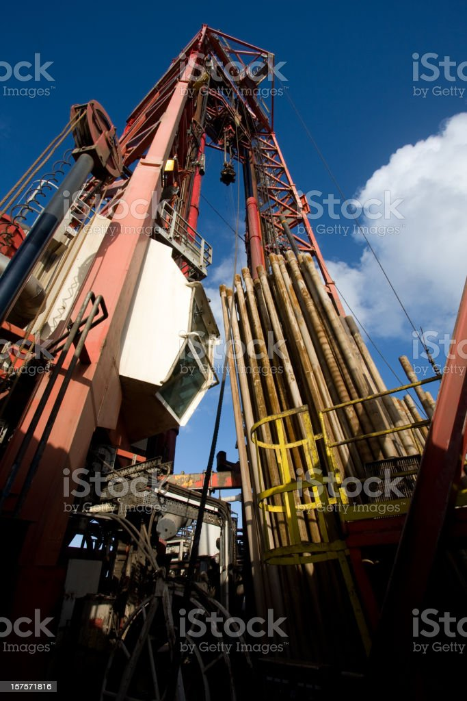 oil rig view royalty-free stock photo
