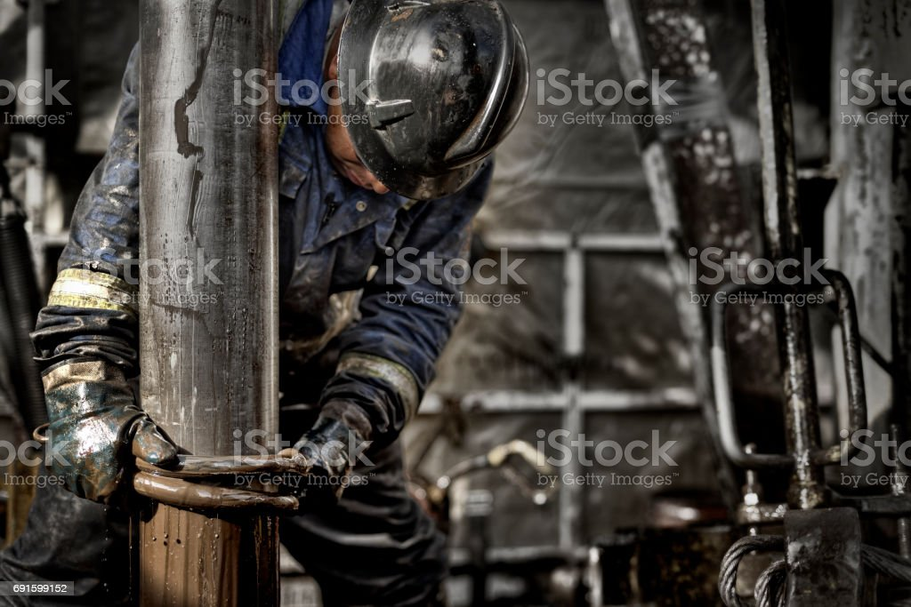 Oil Rig Worker 1.0 stock photo