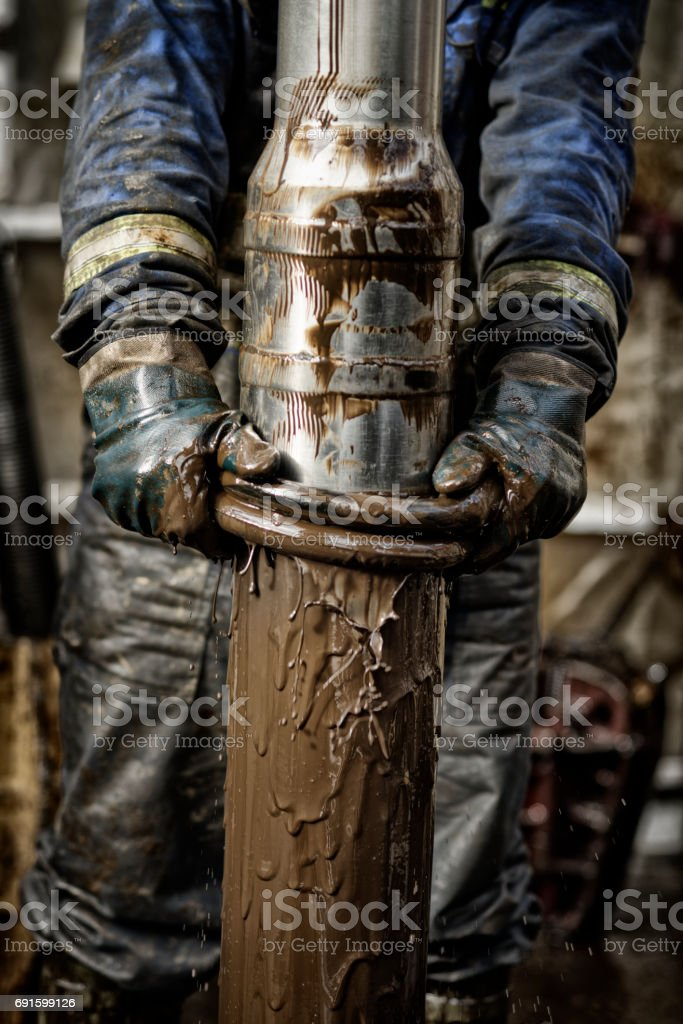 Oil Rig Worker 3.0 stock photo