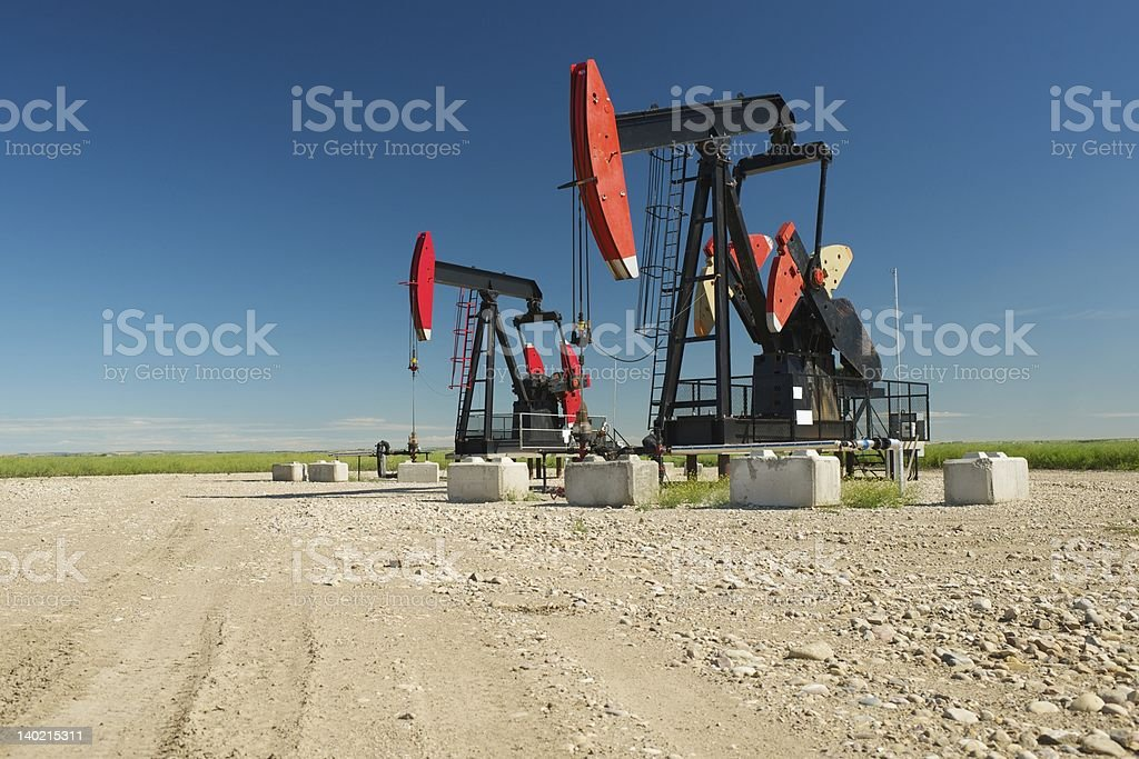 Oil Rigs stock photo