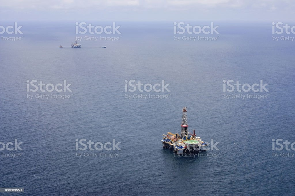 Oil Rigs royalty-free stock photo