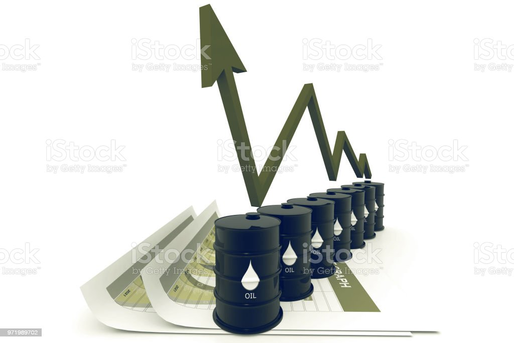 Oil Rising Price Chart Stock Photo More Pictures Of Arrow Symbol