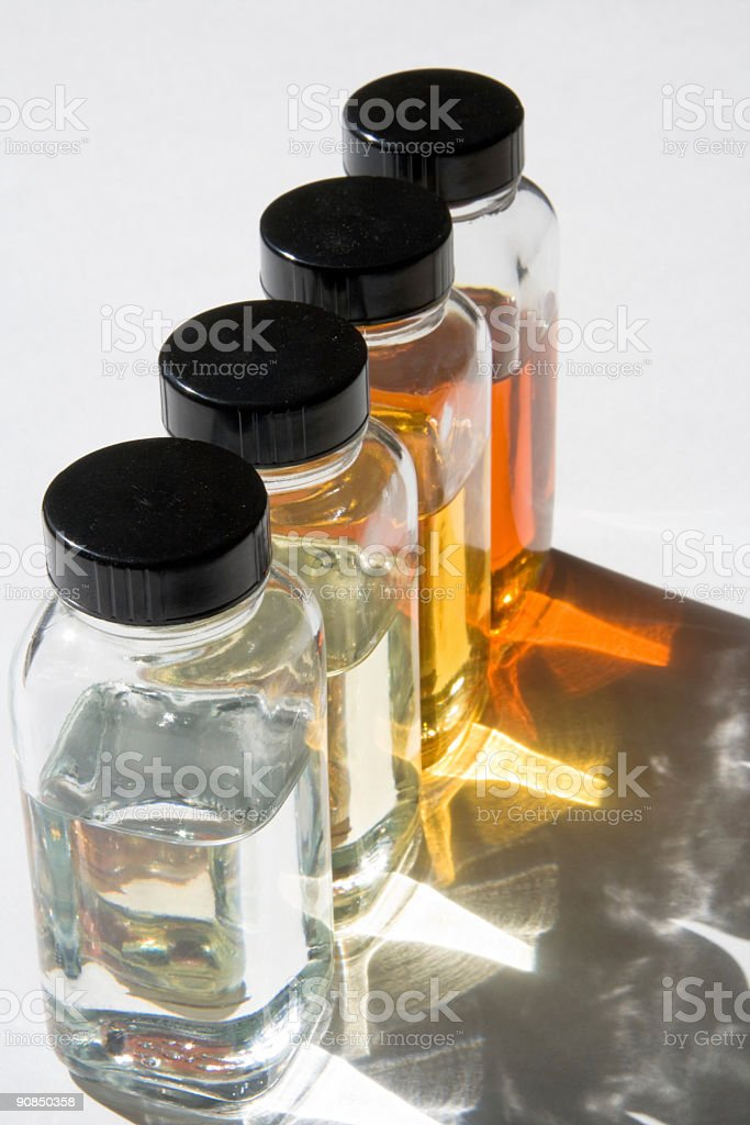 Oil samples 3 stock photo