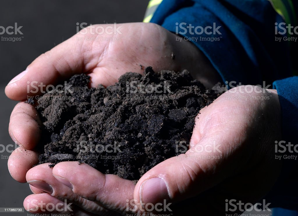 Oil Sand royalty-free stock photo